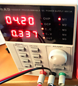 KORAD programmable linear power supply