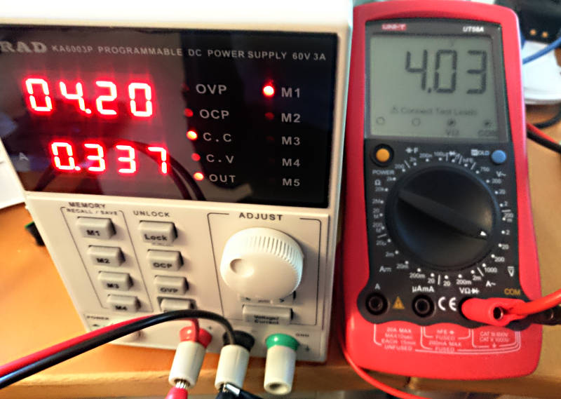 KORAD PSU voltage vs Multimeter